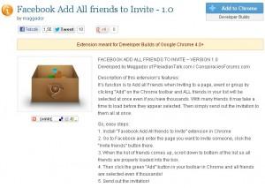 Összes facebook ismerős meghívása , minden ismerős meghívása egy kattintással.