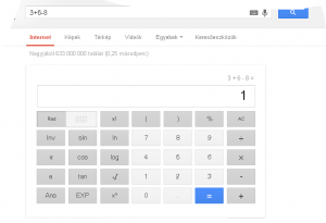 Google számológép